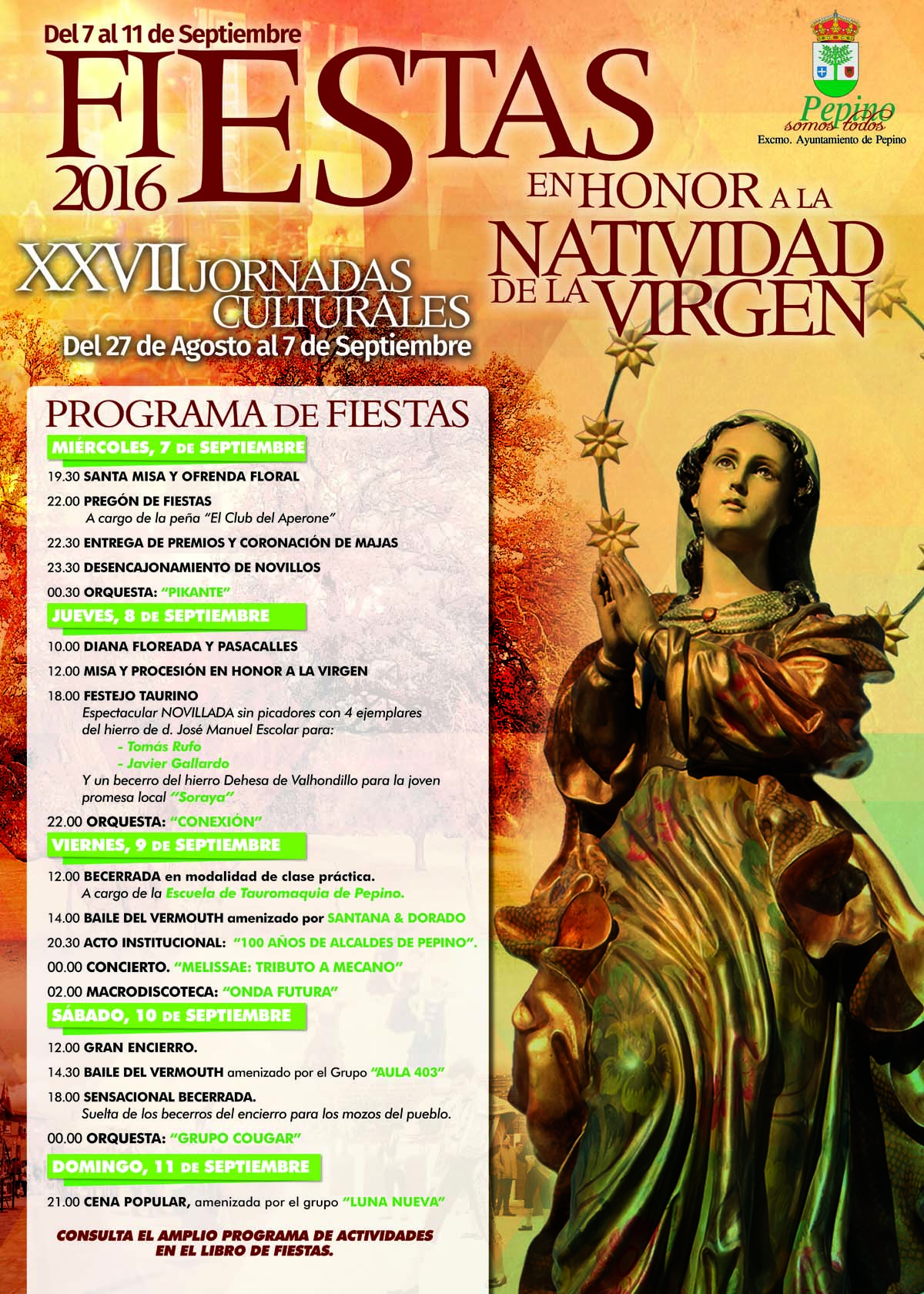 Cartel fiestas Peppino 2016