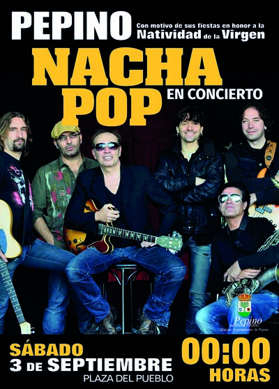 cartel nacha pop en Pepino